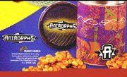Animorphs peanut crunch tin ad