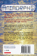 Animorphs 16 the warning UK back cover