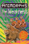 Animorphs 37 the weakness UK cover