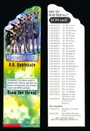 Animorphs 28 experiment bookmark front and back