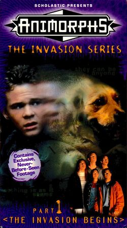 Animorphs US VHS tape Part 1 front cover The Invasion Begins