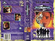 Animorphs vhs 1.1 spanish cover and back cover
