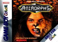 Animorphs Gameboy instruction booklet front cover
