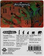 Animorphs rachel ID card front and back