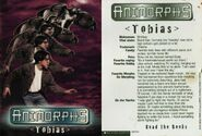 Tobias MM1 trading card front and back