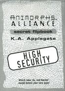 Animorphs alliance flipbook title page