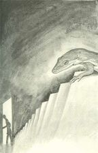 Jake as lizard spying on chapman book 1 the invasion japanese illustration