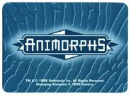 Animorphs the invasion game morph card back