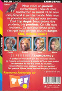 Animorphs 2 the visitor Le visiteur french back cover