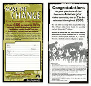 Make the Change contest ad front and back from Aus VHS 1.4