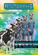 Animorphs 28 the experiment Eksperimentet Norwegian cover