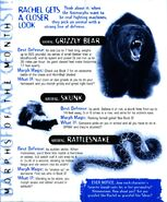 Animorphs Alliance Flash Issue 3 morphs of the month bear skunk rattlesnake
