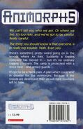 Animorphs 9 the secret UK back cover 1998 edition