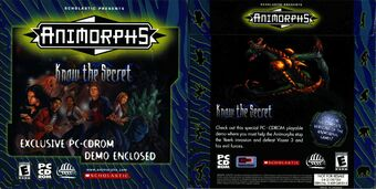 Animorphs know the secret demo cd front and back