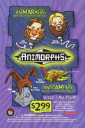 Animorphs Pizza Hut toys table tent