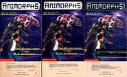 Animorphs encounter 3 different printings cover and copyright page