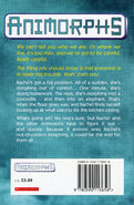 Animorphs 12 the reaction UK earlier printing back cover