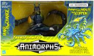 Transformers mega ax scorpion in box front
