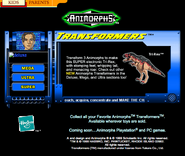 Scholastic.com web screenshot transformers Tri-Rex