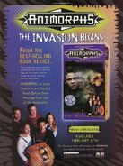Animorphs VHS Part 1 advertisement from Nickelodeon Magazine March 1999