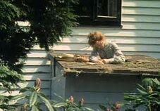 Anne steckt im Dach fest