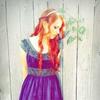 GGF Anne im violetten Kleid