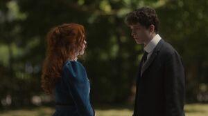 Anne und Gilbert schauen sich an