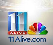 WXIA logo with glossy NBC peacock