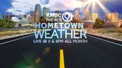 KMBC 9 News 5PM And 6PM Weeknight - Hometown Weather - All Month Long promo for July 2014