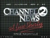 WNGE Channel 2 News 530PM - A Half Hour Earlier Than Anyone Else - Weeknights ident - Fall 1983