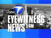 KABC-TV's ABC 7 Eyewitness News At 5 Video Open From 2000