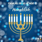WBZ Channel 4 - Happy Hanukkah ident - December 22, 2019