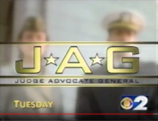 CBS - JAG - Tuesday promo with WCBS-TV New York id bug - late 1997