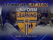 WABC Channel 7 Eyewitness News 11PM - Special Report, Uniform Learning - Tonight id for March 27, 1996