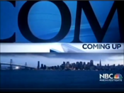 KNTV NBC Bay Area News - Coming Up bumper - Late January 2012