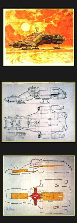 Ron Cobb Nostromo(Leviathan) Book of Alien