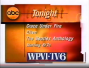 ABC Network - Tonight Line-Up promo With WPVI-TV Philadelphia byline for November 22, 1995