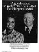 WNBC News 4 New York 6PM - Pat Harper Joins Chuck Scarborough - Tonight promo for April 22, 1985