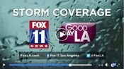 KTTV Fox 11 News 4AM - Storm Coverage - Tomorrow Morning promo for March 2, 2018