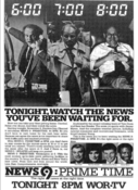 WOR News 9, Prime Time - Tonight promo for November 8, 1983