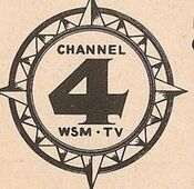 WSM-TV's Channel 4 Video ID From 1950