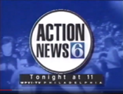 WPVI Channel 6 Action News 11PM - Beatle Mania - Tonight ident for November 22, 1995