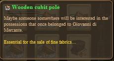 Wooden cubit pole