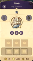 Ship-of-the-line named Pirtylo