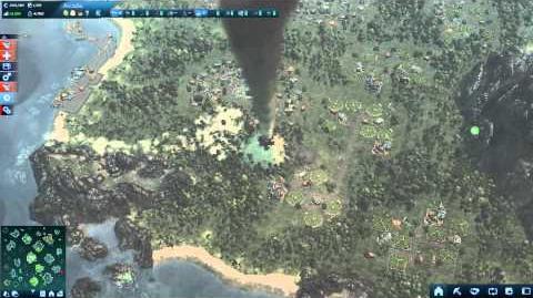 Anno2070 E.L.E.M.E.N.T.S. Sector hit by a Tornado