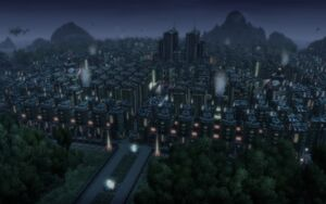 Tycoon City Maximized with Slumming (by night)