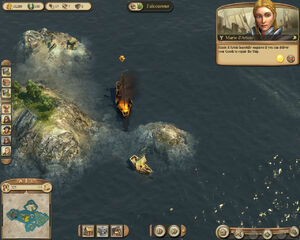 Anno 1404-campaign chapter2 marie helping her ship
