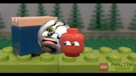 Lego Annoying Orange Super Bowl Football