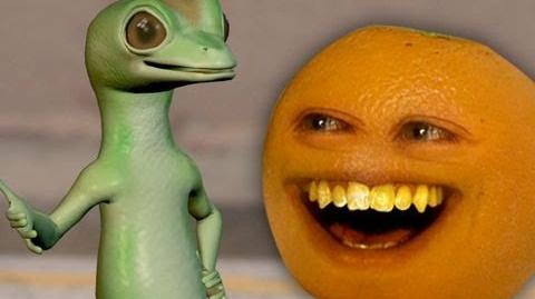 Annoying Orange - Annoying Orange vs. Gecko (Geico Spoof)