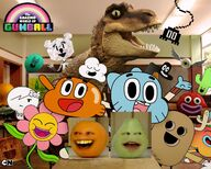 The Amazing World Of Gumball Orange and Pear